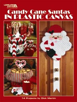 eBook Candy Cane Santas in Plastic Canvas