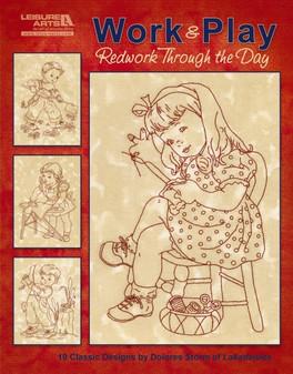 eBook Work & Play, Redwork Through the Day