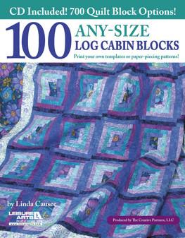 eBook 100 Any-Size Log Cabin Blocks