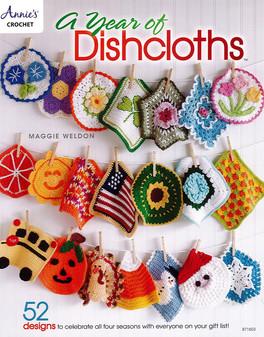 Annie's Crochet A Year of Dishcloths Book