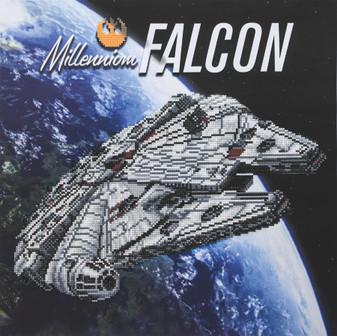 Camelot Dotz Diamond Painting Kit Millennium Falcon