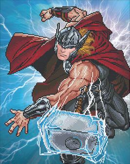 Camelot Dotz Diamond Painting Kit Thor Strikes