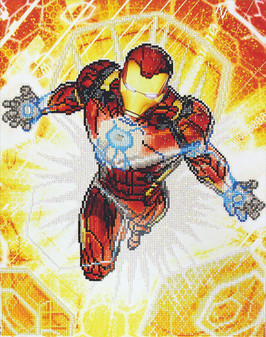 Camelot Dotz Diamond Painting Kit Iron Man Blast