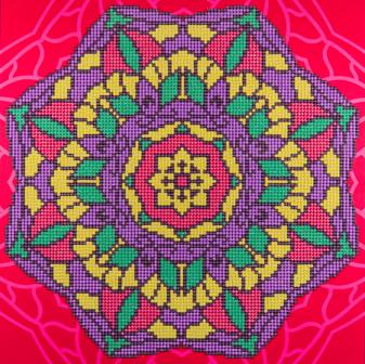 """Diamond Art Kit 12""""x 12"""" Intermediate Mandala"""