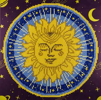 """Diamond Art Kit 12""""x 12"""" Intermediate Sun Mandala"""
