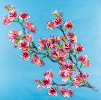 "Diamond Art Kit 12""x 12"" Intermediate Cherry Blossom"