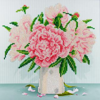 "Diamond Art Kit 12""x 12"" Intermediate English Roses"