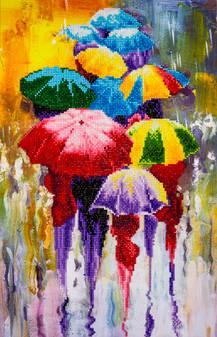 """Diamond Art Kit 14""""x 16"""" Advanced Rainy Day"""