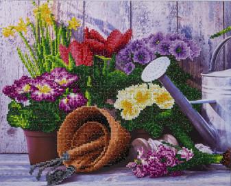 "Diamond Art Kit 14""x 18"" Advanced Spring Gardening"