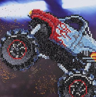 """Diamond Art Kit 8""""x 8"""" Sparkle Monster Truck"""