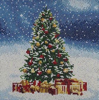 "Diamond Art Kit 12""x 12"" Full Drill Holiday Christmas Tree"