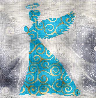 "Diamond Art Kit 12""x 12"" Full Drill Holiday Angel"