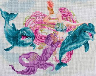 """Diamond Art Kit 14""""x 16"""" Advanced Mermaid & Friends"""
