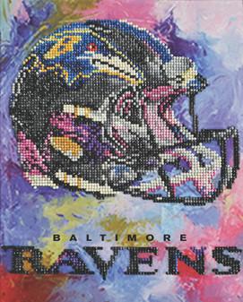 "Diamond Art Kit 10""x 12"" Intermediate NFL Team Baltimore Ravens"