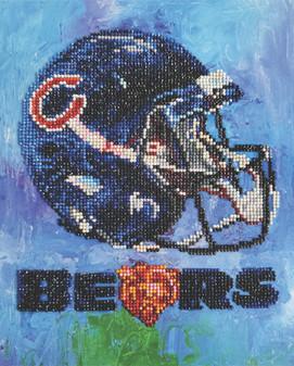 "Diamond Art Kit 10""x 12"" Intermediate NFL Team Chicago Bears"