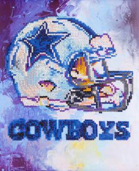 """Diamond Art Kit 10""""x 12"""" Intermediate NFL Team Dallas Cowboys"""