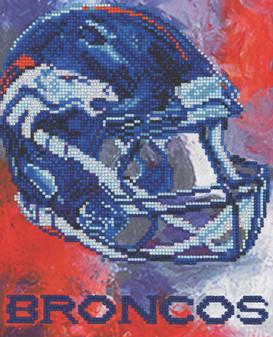 "Diamond Art Kit 10""x 12"" Intermediate NFL Team Denver Broncos"