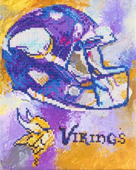 """Diamond Art Kit 10""""x 12"""" Intermediate NFL Team Minnesota Vikings"""