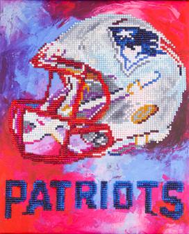 "Diamond Art Kit 10""x 12"" Intermediate NFL Team New England Patriots"
