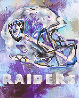 "Diamond Art Kit 10""x 12"" Intermediate NFL Team Oakland Raiders"