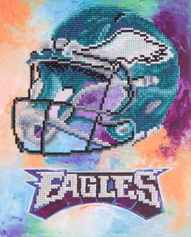 """Diamond Art Kit 10""""x 12"""" Intermediate NFL Team Philadelphia Eagles"""