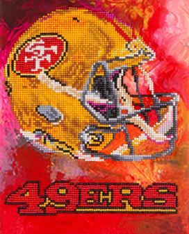 "Diamond Art Kit 10""x 12"" Intermediate NFL Team San Francisco 49ers"