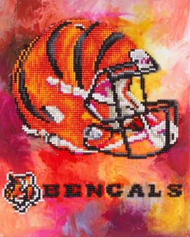 "Diamond Art Kit 10""x 12"" Intermediate NFL Team Cincinnati Bengals"