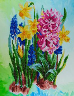 "Diamond Art Kit 14""x 16"" Advanced Wildflowers"
