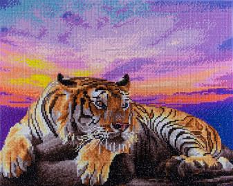 """Diamond Art Kit 14""""x 16"""" Advanced Tiger"""
