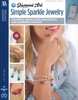 Diamond Art By Leisure Arts Freestyle Diamond Dotting Simple Sparkle Jewelry Book
