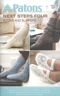 Patons Next Steps Four Socks And Slippers Knit Book