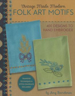 Indygo Junction Vintage Made Modern Folk Art Motifs Embroidery Book