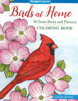 Design Originals Birds At Home Coloring Book