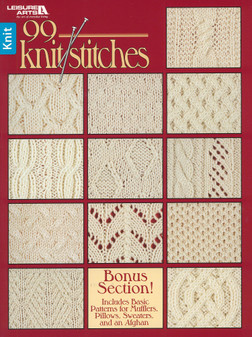 Leisure Arts 99 Knit Stitches Book