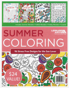 Leisure Arts Summer Coloring Book Bundle