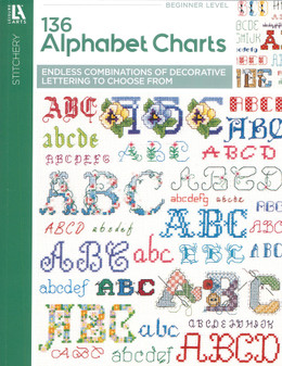 Leisure Arts 136 Alphabet Charts Book