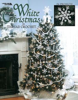 Leisure Arts White Christmas In Thread Crochet Book