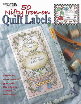 Leisure Arts 50 Nifty Iron-On Quilt Labels Book