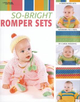 Leisure Arts So Bright Romper Sets Crochet Book
