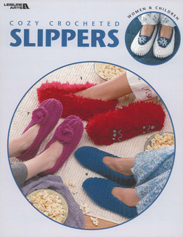 Leisure Arts Cozy Crocheted Slippers Book