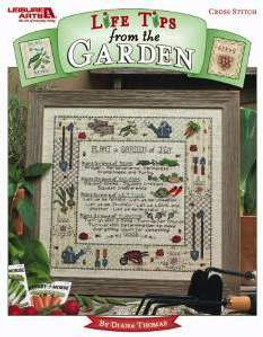 Leisure Arts Life Tips From The Garden Cross Stitch Book