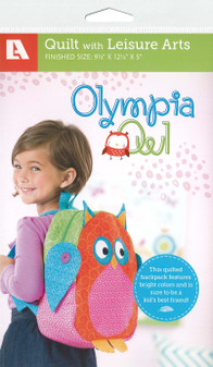 Leisure Arts Olympia Owl Backpack Quilt Pattern Pack