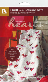 Leisure Arts A Game Of Hearts Quilt Pattern Pack