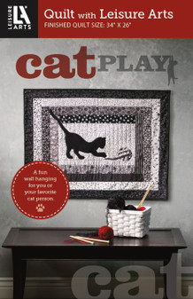 Leisure Arts Cat At Play Quilt Pattern Pack
