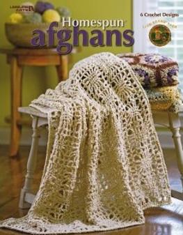 Leisure Arts Homespun Afghans Crochet Book