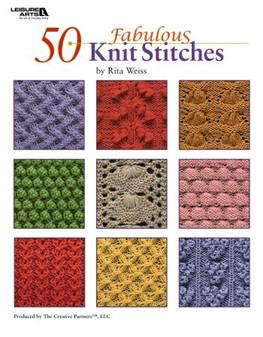 Leisure Arts 50 Fabulous Knit Stitches Book