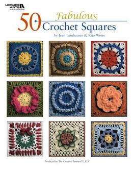 Leisure Arts 50 Fabulous Crochet Squares Book