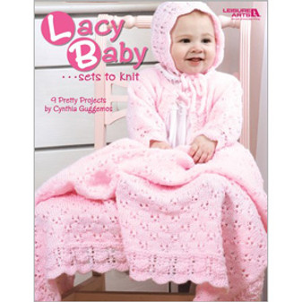 Leisure Arts Lacy Baby Sets To Knit Book