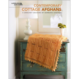 Leisure Arts Contemporary Cottage Afghans Crochet Book