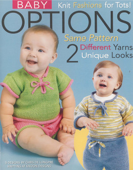 Leisure Arts Baby Options Same Pattern 2 Looks Knit Book